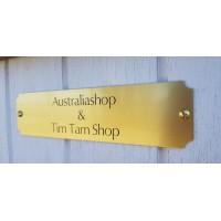 Door Sign Brass